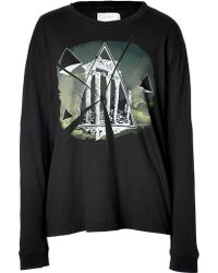 Current/Elliott Long Sleeve Graphic Tee - Lyst