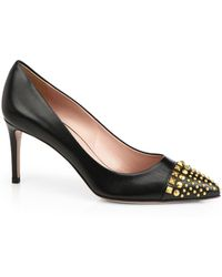 Gucci Coline Studded Leather Pumps - Lyst