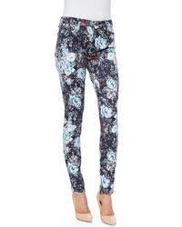 7 For All Mankind Highwaist Skinny Jeans - Lyst