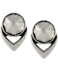 Vince Camuto - Silver-tone Stud Earrings - Lyst