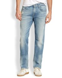 7 For All Mankind The Straight Modern Straight-Leg Jeans - Lyst