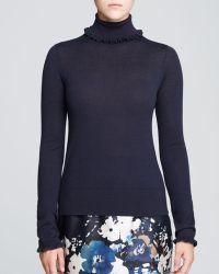 Kate Spade Bekki Ruffle Trim Sweater - Lyst