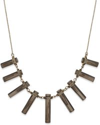 House Of Harlow Gold-tone Gray Bar Frontal Necklace - Lyst