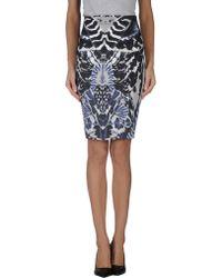 McQ by Alexander McQueen Knee Length Skirt blue - Lyst