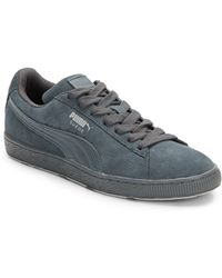 Puma Suede Paneled Sneakers - Lyst