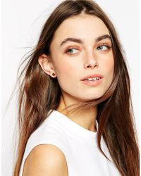 Stella & Bow - Blanche Square Stud Earrings - Lyst