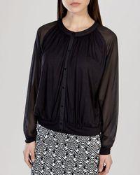 Karen Millen Shirt - Draped Jersey Collection - Lyst