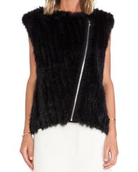 Marc By Marc Jacobs Abbey Rabbit Fur Vest - Lyst