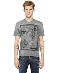 DSquared² Frame Printed Cotton T-Shirt - Lyst