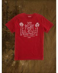 Denim & Supply Ralph Lauren Red Eagle-Graphic Tee - Lyst