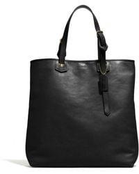 Coach Bleecker Leather Shopper black - Lyst