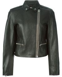 Alexander Wang Cropped Biker Jacket - Lyst