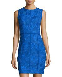 Cynthia Steffe Floral-Embroidered Sheath Dress blue - Lyst