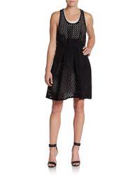 3.1 Phillip Lim Asymmetrical Eyelet Paneled Silk Shift Dress - Lyst