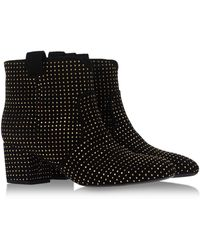 Laurence Dacade Embellished Suede Ankle Boots black - Lyst