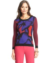 Diane von Furstenberg Dvf April Printed Wool Sweater - Lyst