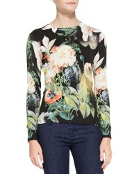 Ted Baker Noorie Opulent Bloomprint Sweater Multi 1 - Lyst