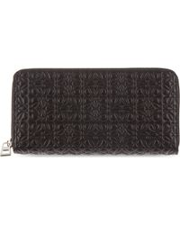 Loewe Engraved Logo Zip-around Wallet - Lyst