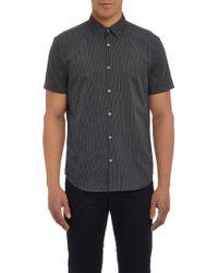 John Varvatos Pin-Dot Stripe Short-Sleeve Shirt - Lyst
