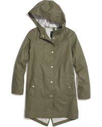 Madewell Green Rainstorm Jacket - Lyst