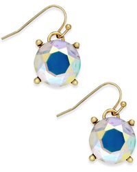 Inc International Concepts Gold-Tone Large Crystal Stone Drop Earrings - Lyst