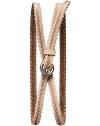 Banana Republic Woven Leather Skinny Belt - Lyst