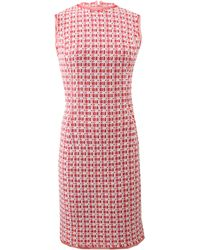 Oscar de la Renta Tweed Pencil Dress - Lyst