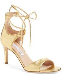 Diane von Furstenberg | Rimini Ankle-Wrap Sandals | Lyst