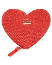 Kate Spade   'heart' Leather Coin Purse   Lyst