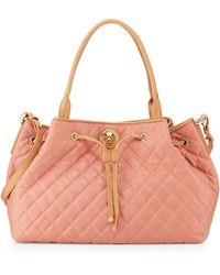 Moschino Borsa Quilted Faux-leather Tote - Lyst