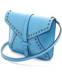 IIIBeCa by Joy Gryson - Studded Church Street Envelope Bag Sky - Lyst