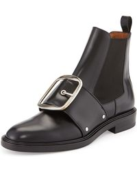 Givenchy Buckled Calfskin Chelsea Boot - Lyst