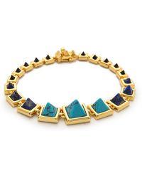 Eddie Borgo | Graduated Gemstone Pyramid Bracelet - Gold | Lyst