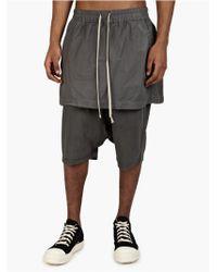 DRKSHDW by Rick Owens Men'S Grey Kilt Boxer Pod Shorts gray - Lyst