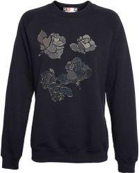 MSGM Mirrored Applique Sweatshirt - Lyst