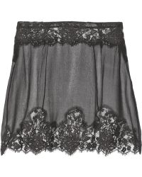 Kiki De Montparnasse Le Reve Lace Trimmed Silk Chiffon Half Slip - Lyst