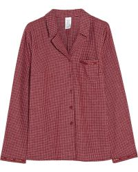 Calvin Klein - Plaid Cotton-Flannel Pyjama Top - Lyst
