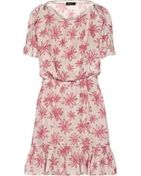 Nina Ricci Floralprint Silk Dress - Lyst