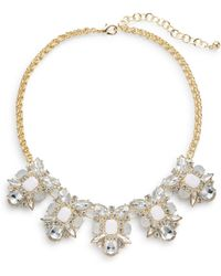 Cara Five-Station Bib Necklace - Lyst