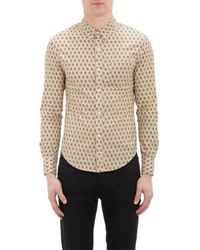 Band Of Outsiders Beige Floral Shirt - Lyst