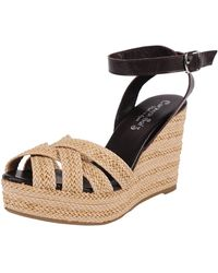 Carmen Saiz | Braided Raffia Wedge | Lyst