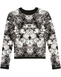 Nicole Miller Ghost Flower Knit Top - Lyst