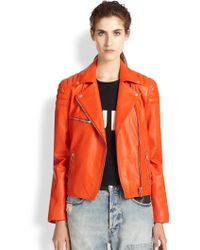McQ by Alexander McQueen Leather Motorcycle Jacket - Lyst
