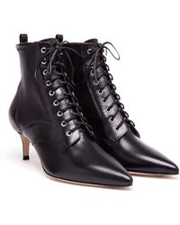 Gianvito Rossi Laceup Leather Boots - Lyst