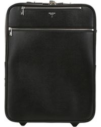 Serapian Saffiano Leather Carry On Trolley - Lyst