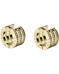 Michael Kors Pave Huggie Earrings Golden - Lyst