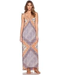 Twelfth street by cynthia vincent tiered lace maxi dress
