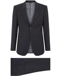 Giorgio Armani Fine Check Wool Suit - Lyst