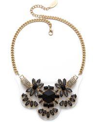 Adia Kibur - Crystal Necklace - Black/Gold - Lyst