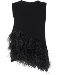 McQ by Alexander McQueen Dark Black Feather Top - Lyst